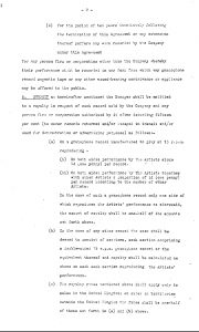 Page 2 of the Parlophone Contract