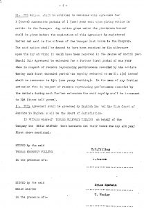 Page 4 of the Parlophone Contract